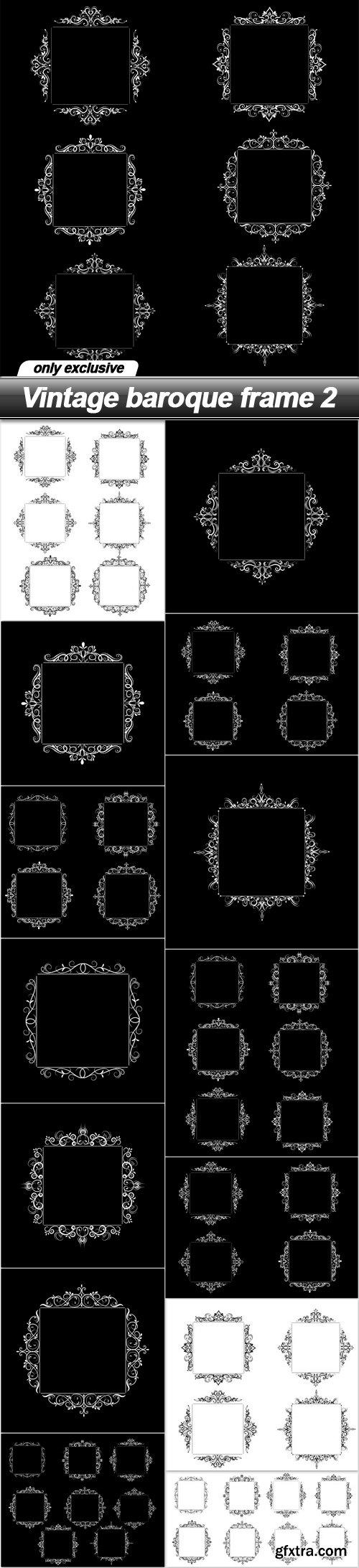 Vintage baroque frame 2 - 15 EPS