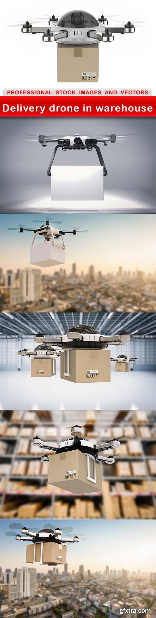 Delivery drone in warehouse - 6 UHQ JPEG