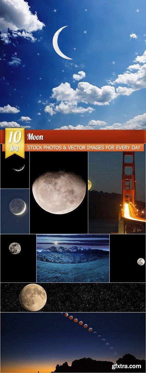 Moon, 10 x UHQ JPEG