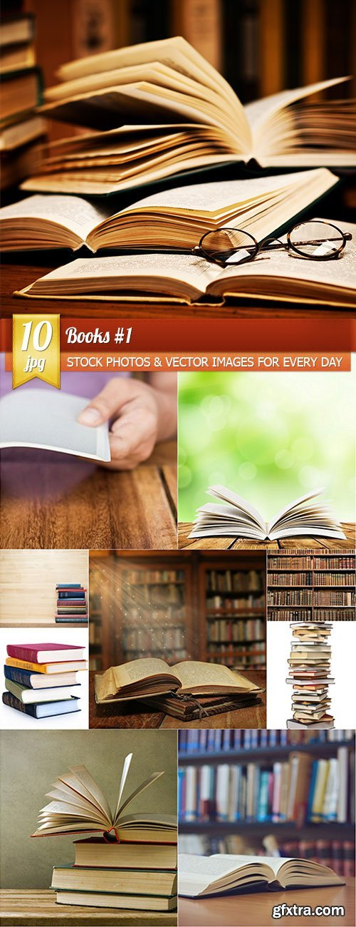 Books 1, 10 x UHQ JPEG