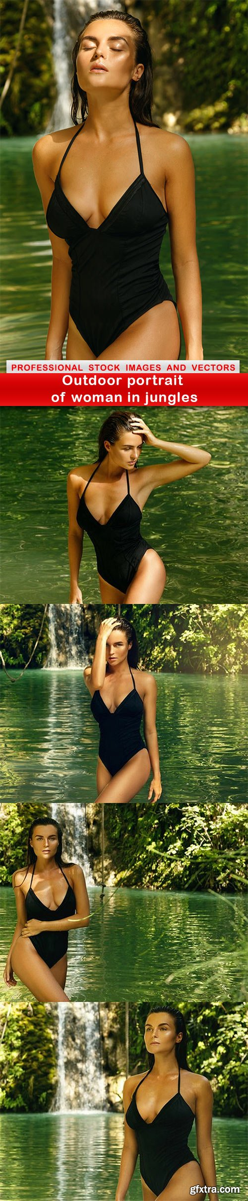 Outdoor portrait of woman in jungles - 5 UHQ JPEG