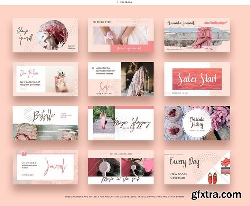 Pink Peach Social Media Designs
