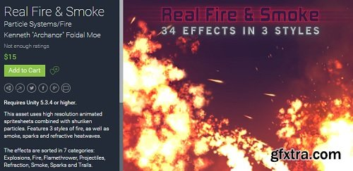 Unity Asset – Real Fire & Smoke UPDATE v1.01.