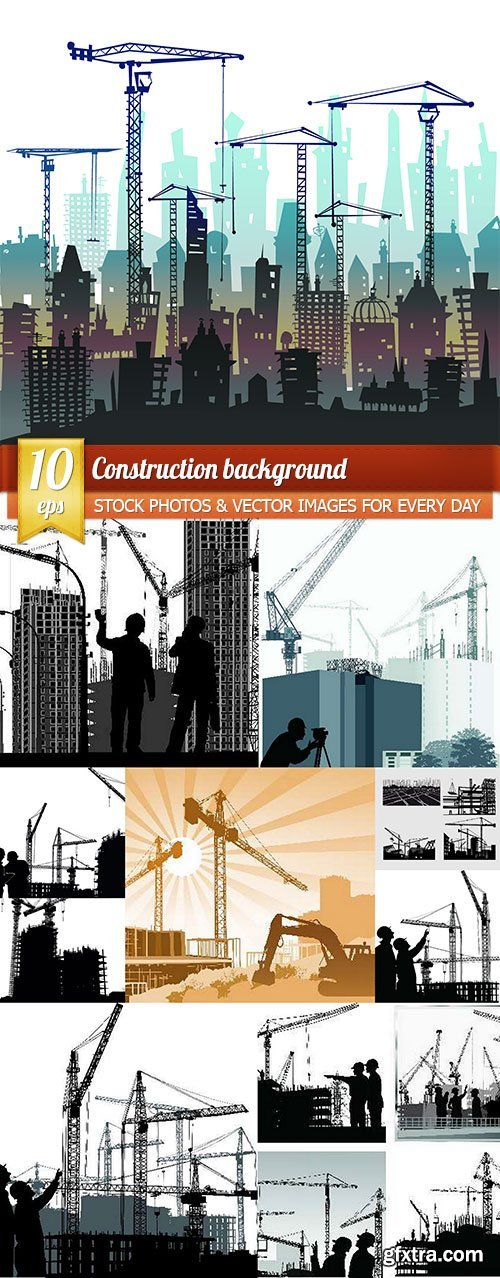 Construction background, 10 x EPS