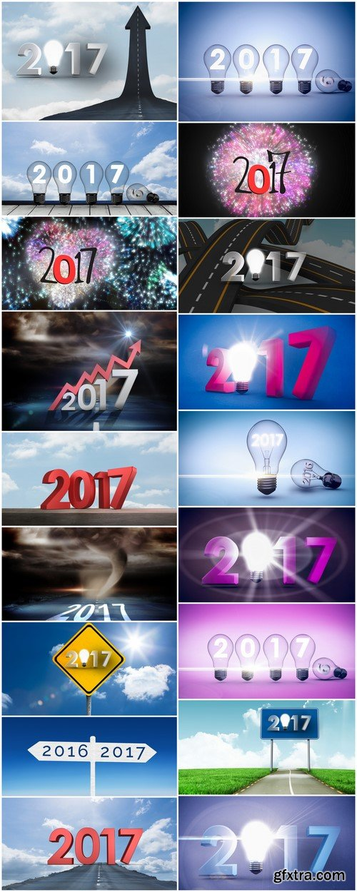 Illustrations for 2017 Concept of success and ideas 18X JPEG