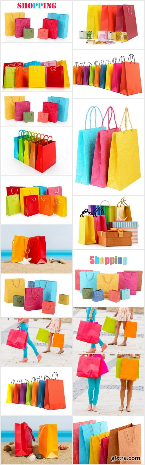 3d render of colorful shopping bags 18X JPEG