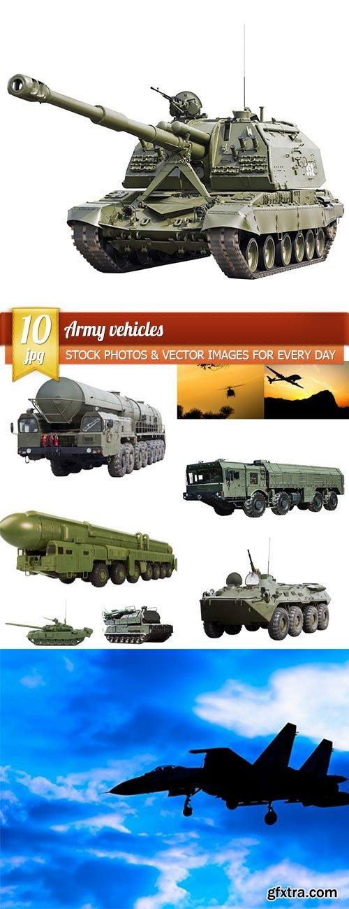 Army vehicles, 10 x UHQ JPEG