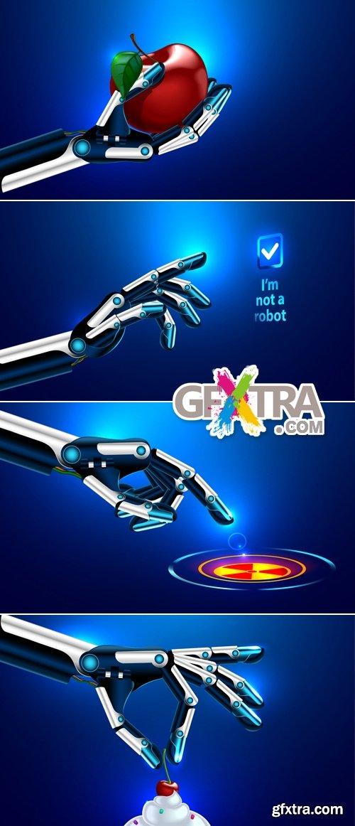 Robot Hand Vector