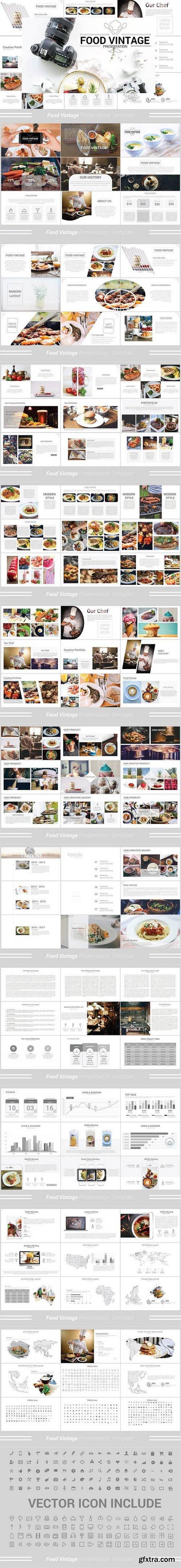 CM - Food Vintage Keynote Template 1351300