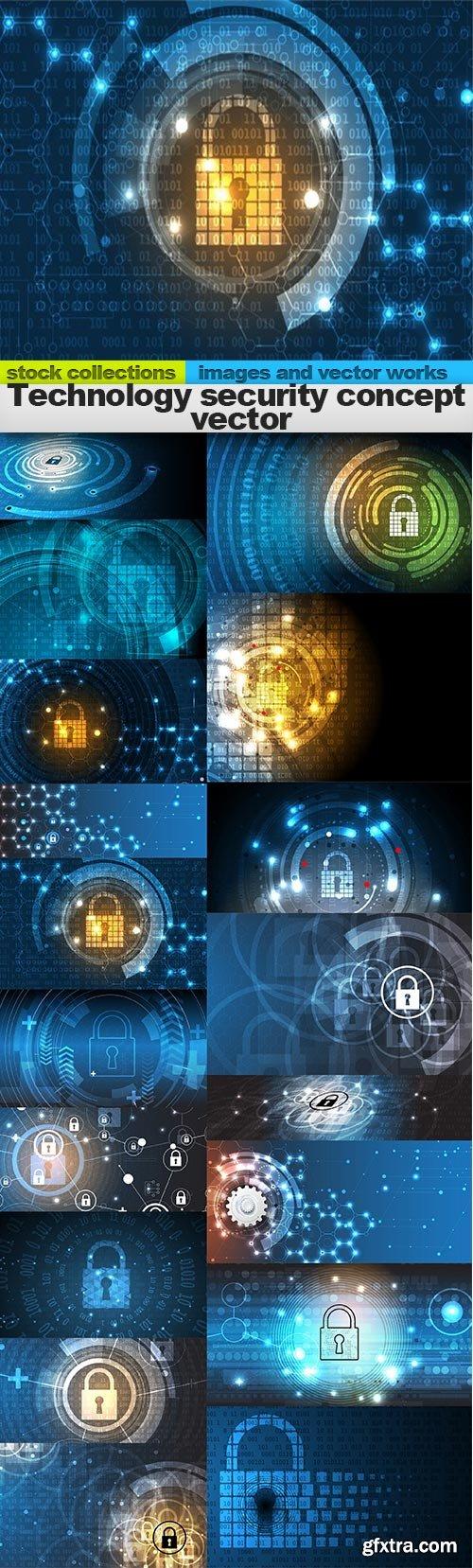 Technology security concept vector, 18 x EPS