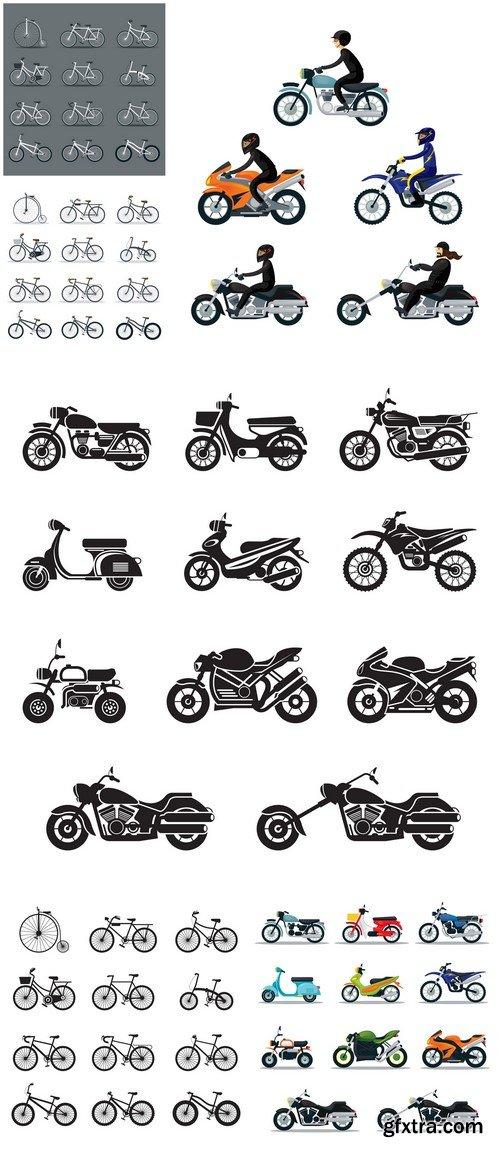 Bicycle and motorcycle 6X JPEG