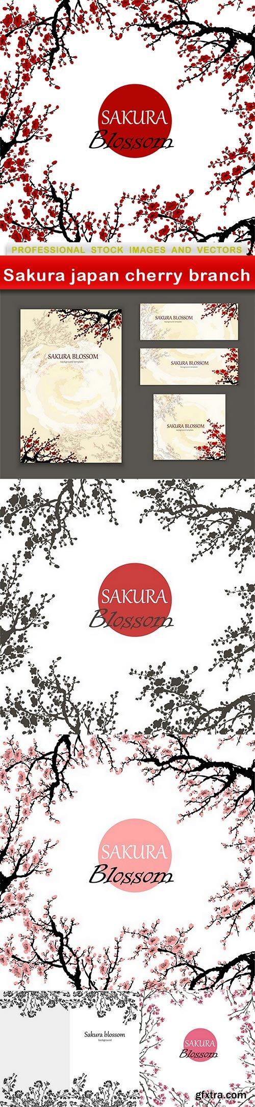 Sakura japan cherry branch - 6 EPS