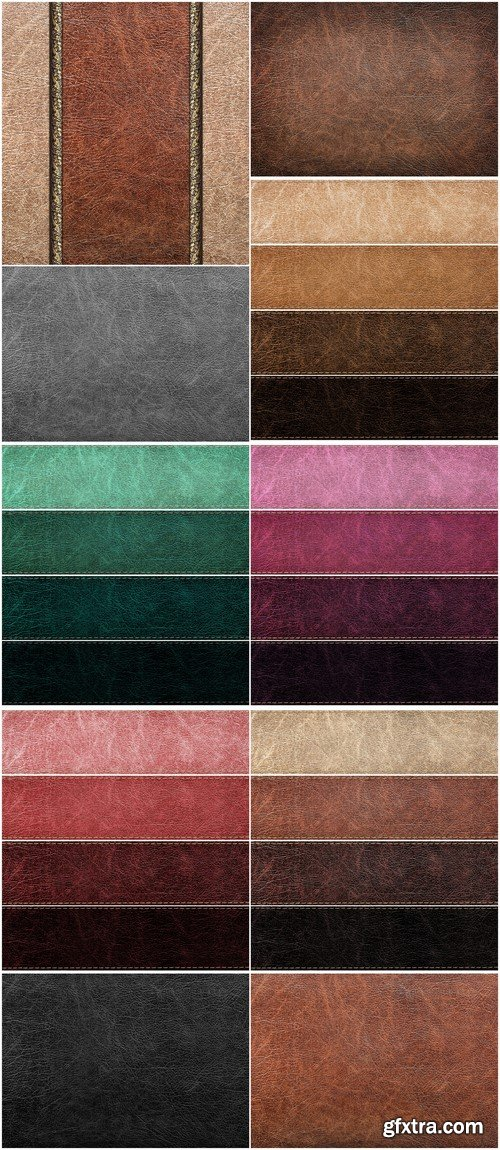 Set of leather labels of different colors 10X JPEG