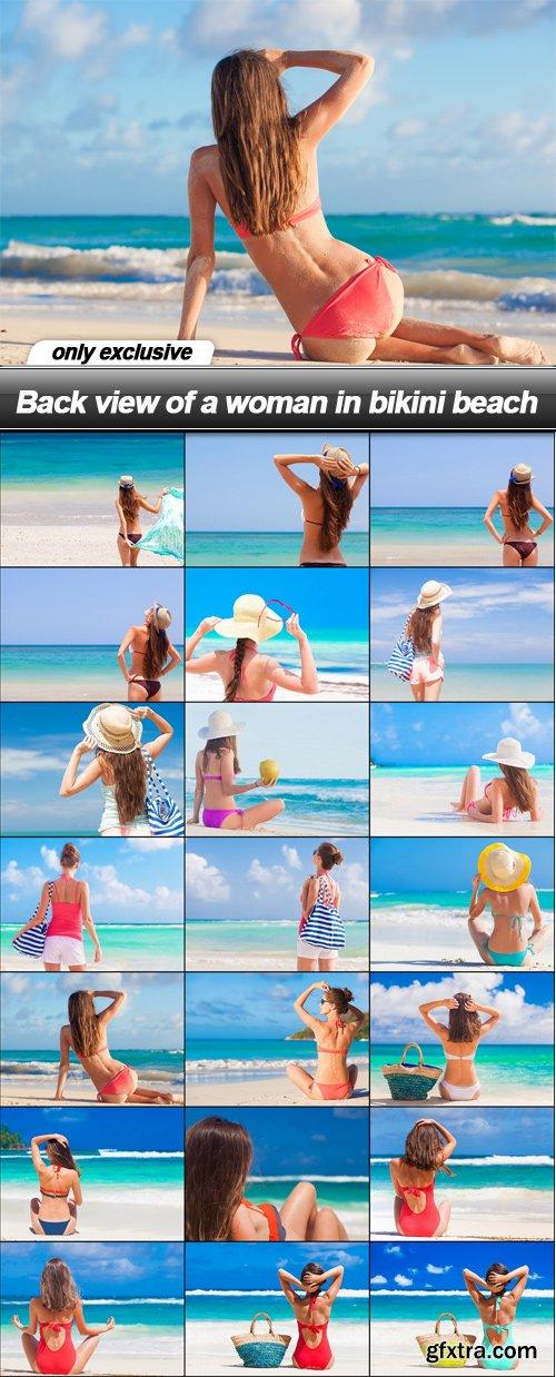Back view of a woman in bikini beach - 21 UHQ JPEG