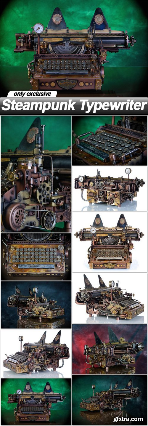 Steampunk Typewriter - 11 UHQ JPEG