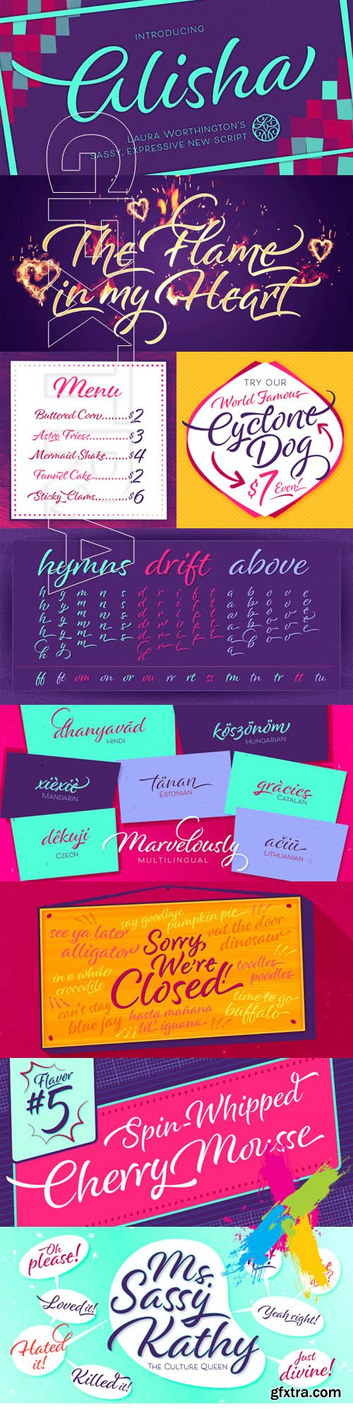 Alisha font family