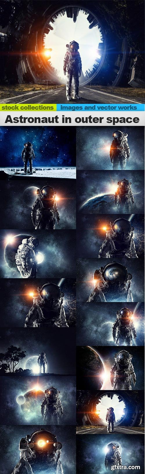 Astronaut in outer space, 15 x UHQ JPEG