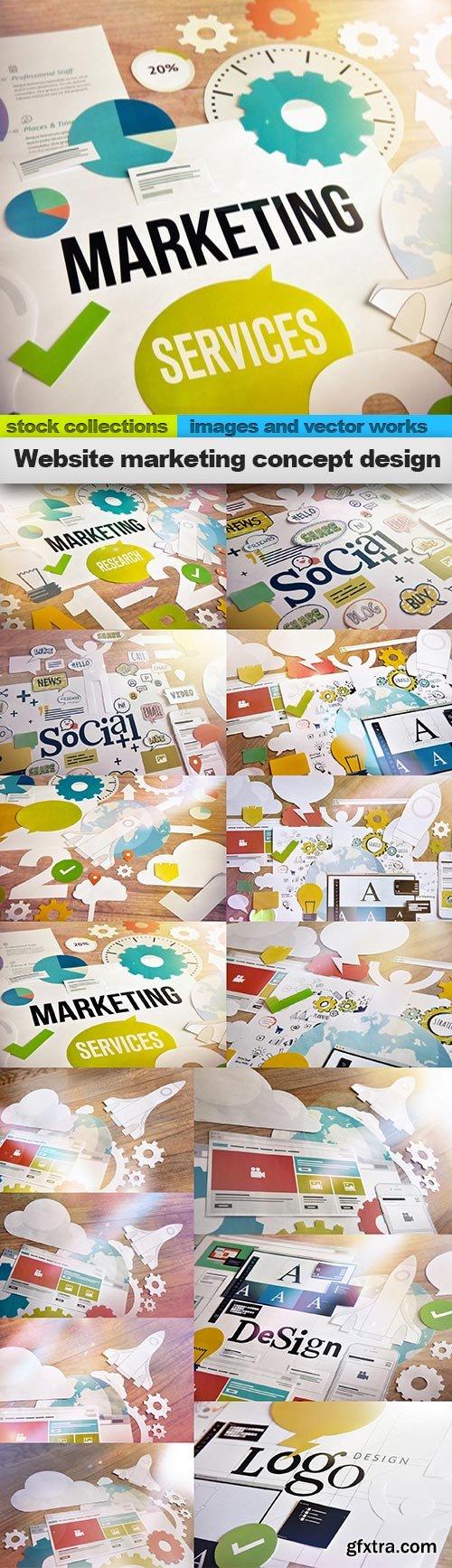 Website marketing concept design, 15 x UHQ JPEG