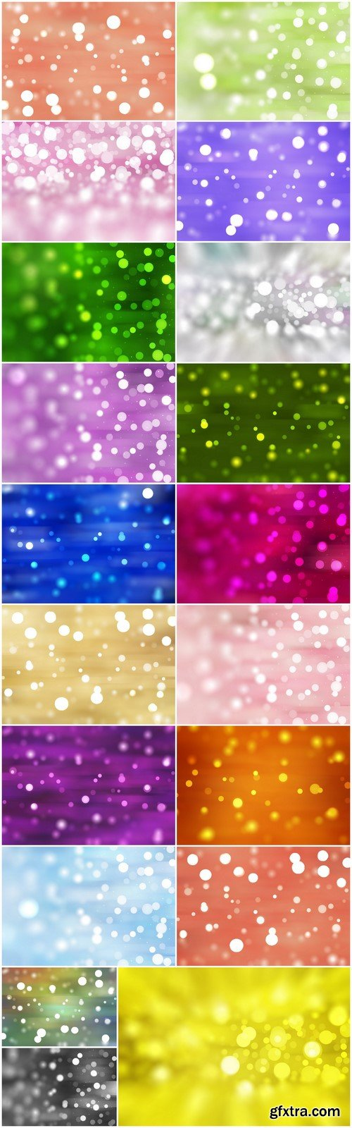 Bokeh colored background 19X JPEG