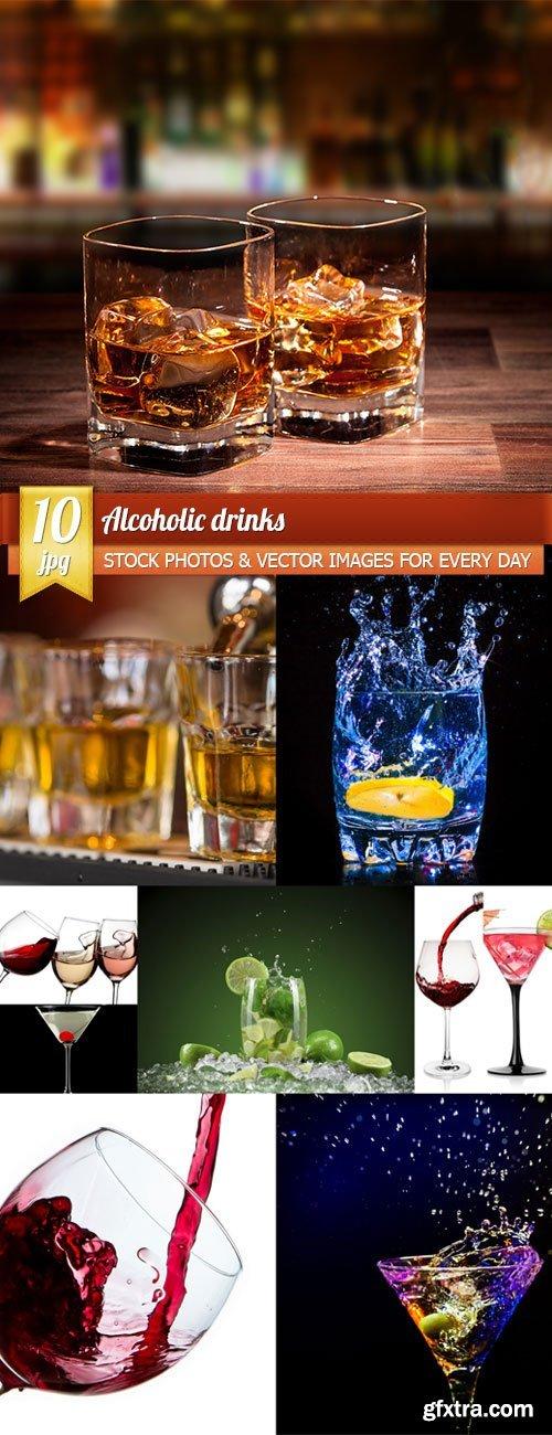 Alcoholic drinks, 10 x UHQ JPEG