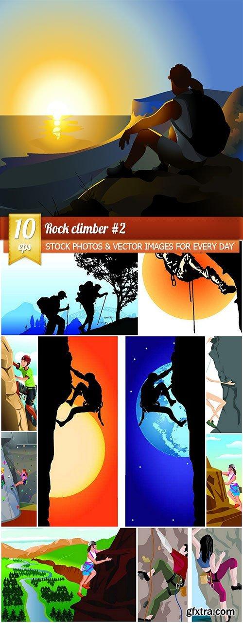 Rock climber #2, 10 x EPS