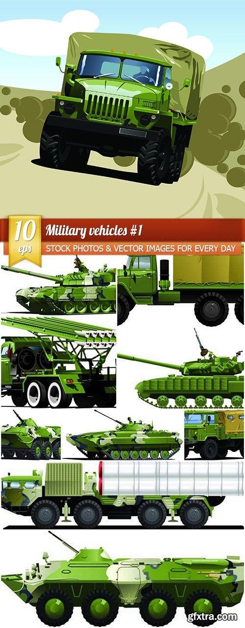 Military vehicles #1, 10 x EPS