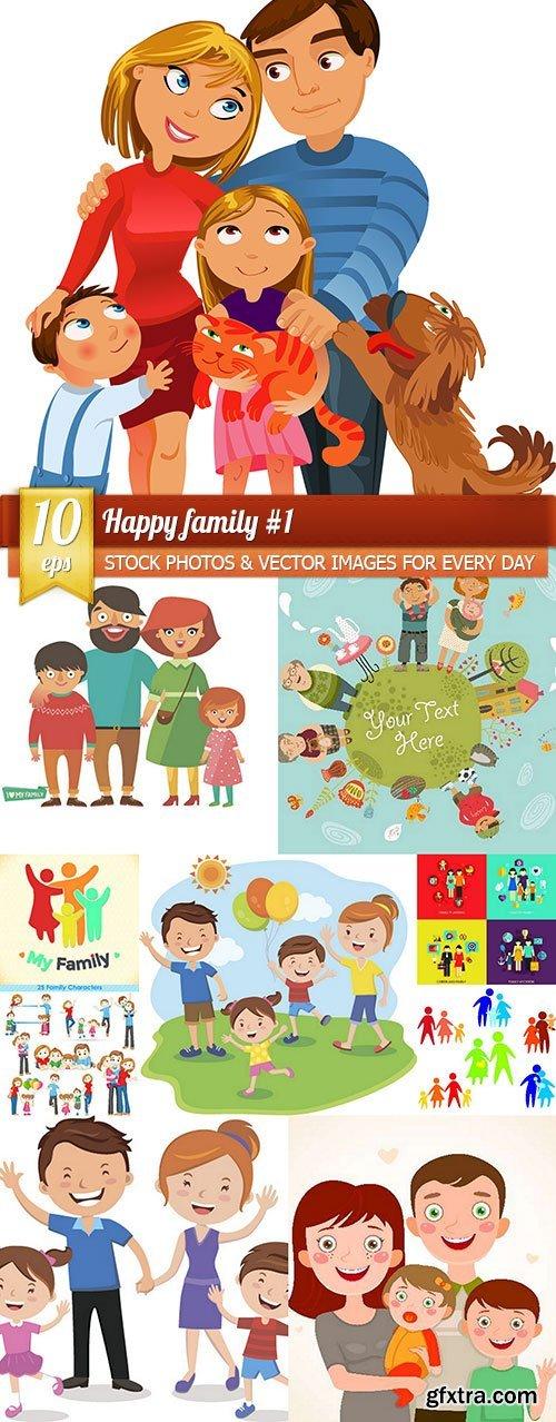 Happy family #1, 10 x EPS