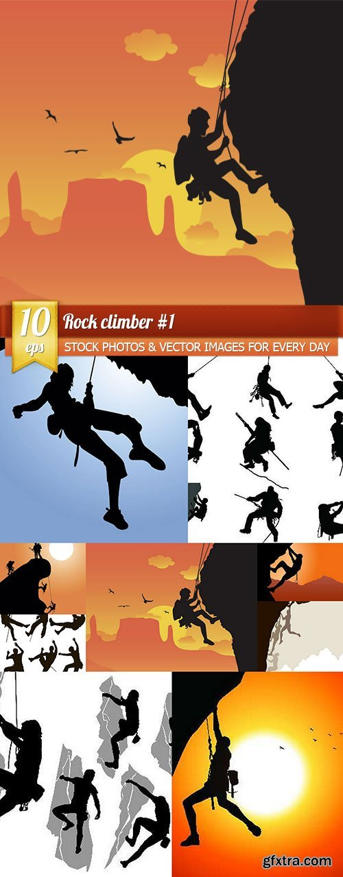 Rock climber #1, 10 x EPS