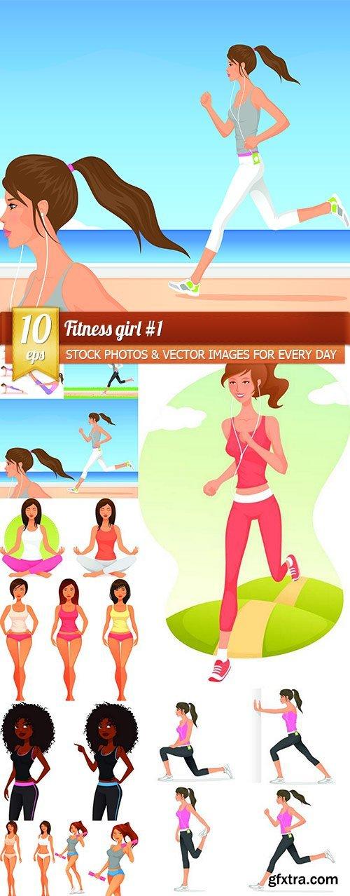 Fitness girl #1, 10 x EPS