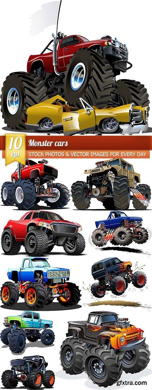 Monster cars, 10 x EPS