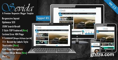 ThemeForest - Sevida v2.5 - Responsive Magazine Blogger Template - 4604301