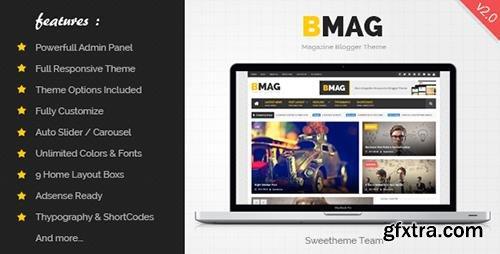 ThemeForest - BMAG v2.1.1 - Magazine Responsive Blogger Template - 8933899