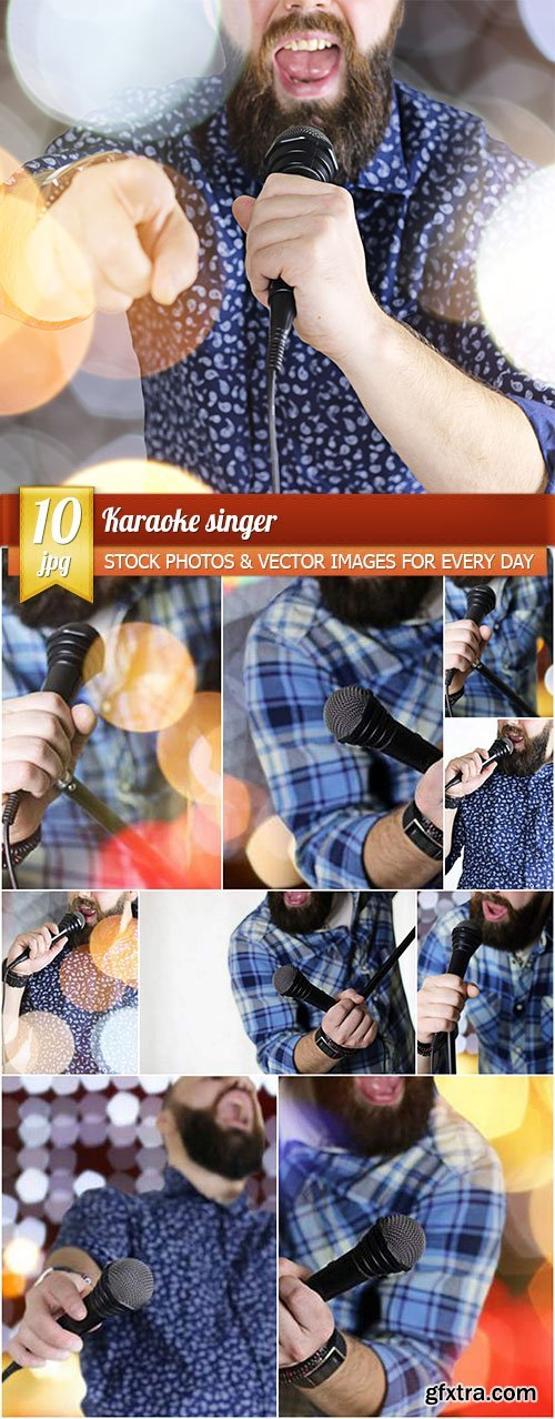 Karaoke singer, 10 x UHQ JPEG