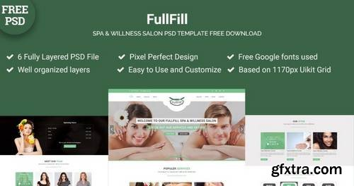 FullFill – Spa & Willness Salon Psd Template