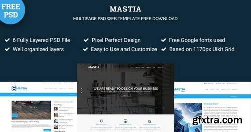 Mastia – Multipage Business Psd Web Template