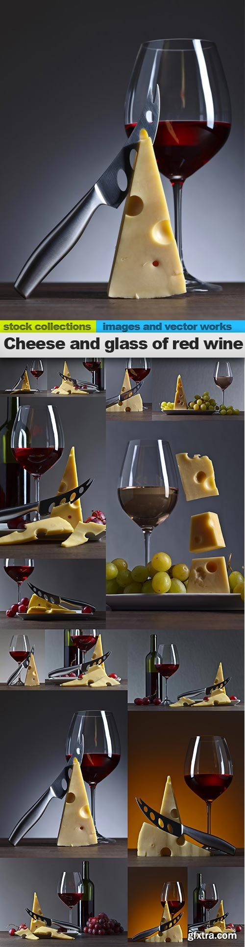 Cheese and glass of red wine, 15 x UHQ JPEG