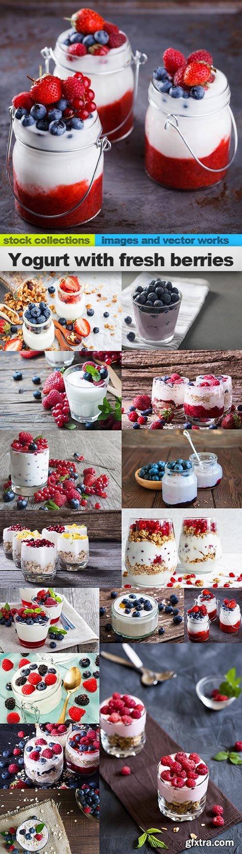 Yogurt with fresh berries, 15 x UHQ JPEG