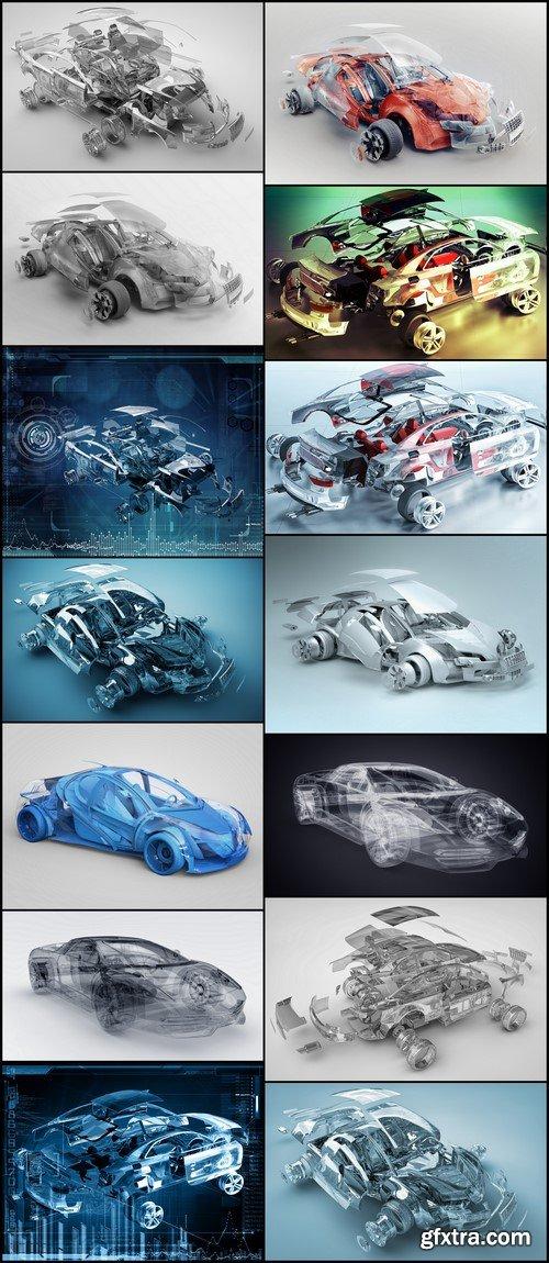 Transparent sport car 14X JPEG