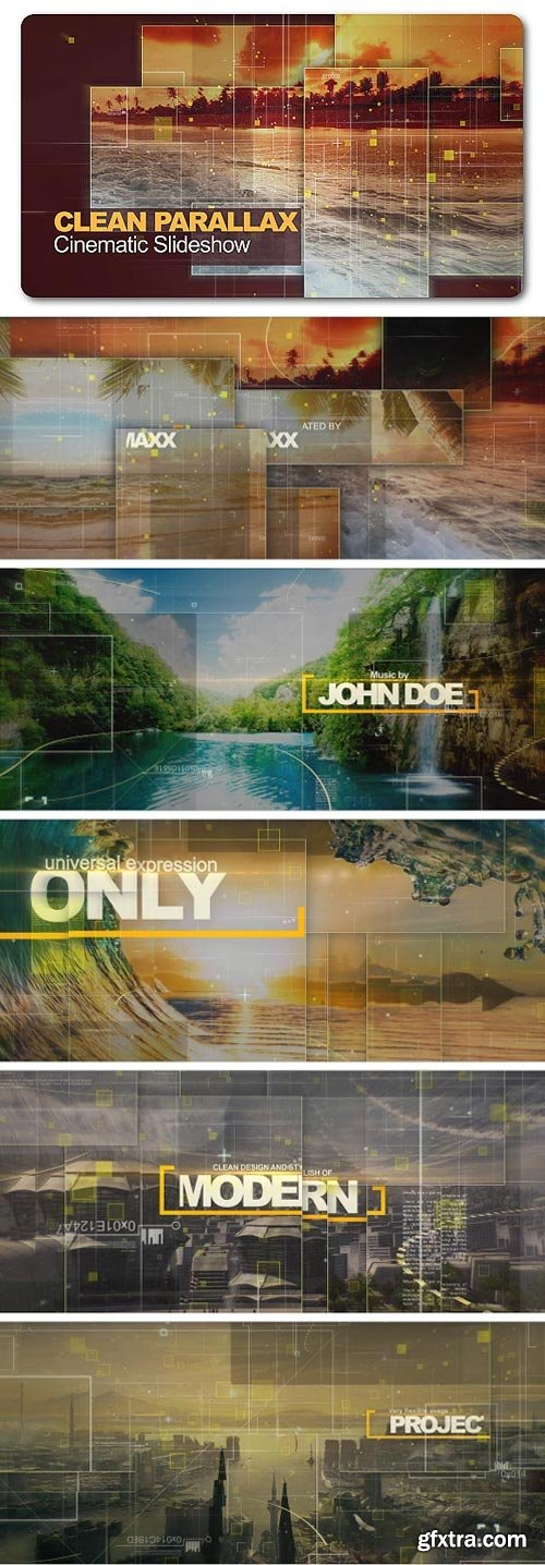 Videohive - Clean Parallax Cinematic Slideshow - 19847628