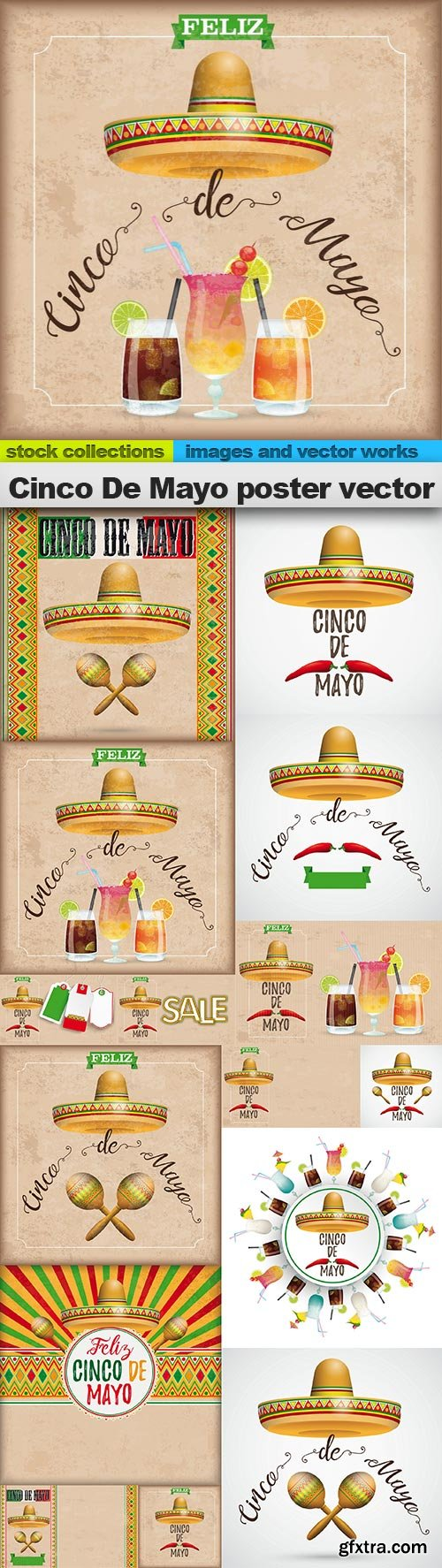 Cinco De Mayo poster vector, 15 x EPS