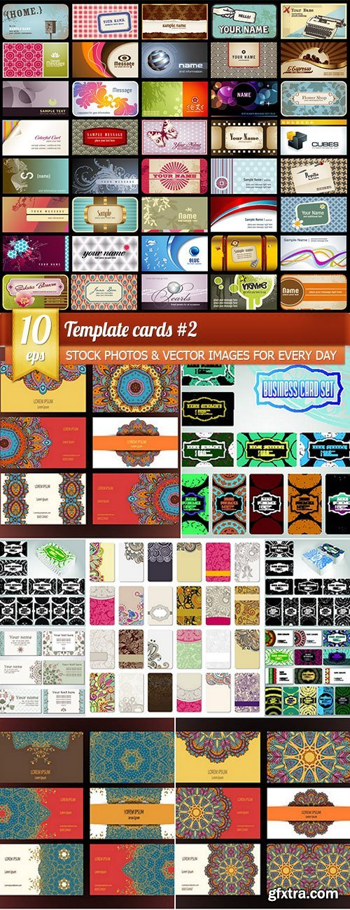 Template cards 2, 10 x EPS
