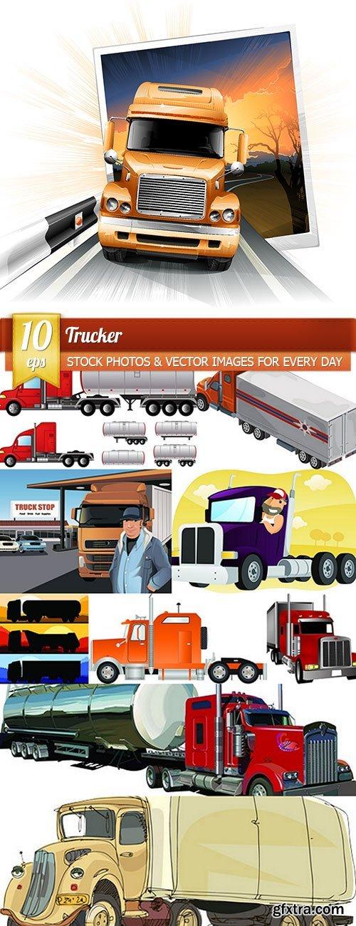 Trucker, 10 x EPS