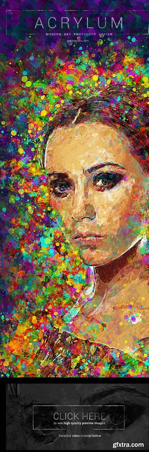 Graphicriver - Acrylum - Modern Art Photoshop Action 16947221