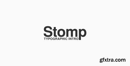 Videohive Stomp - Typographic Intro 19211748