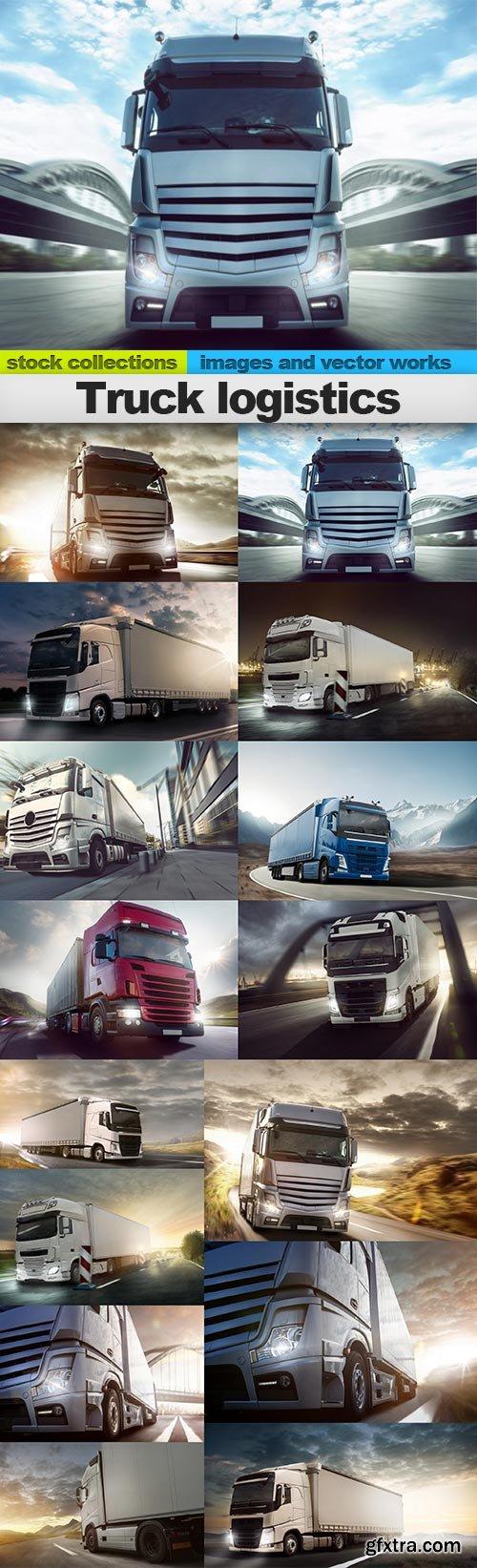 Truck logistics, 15 x UHQ JPEG