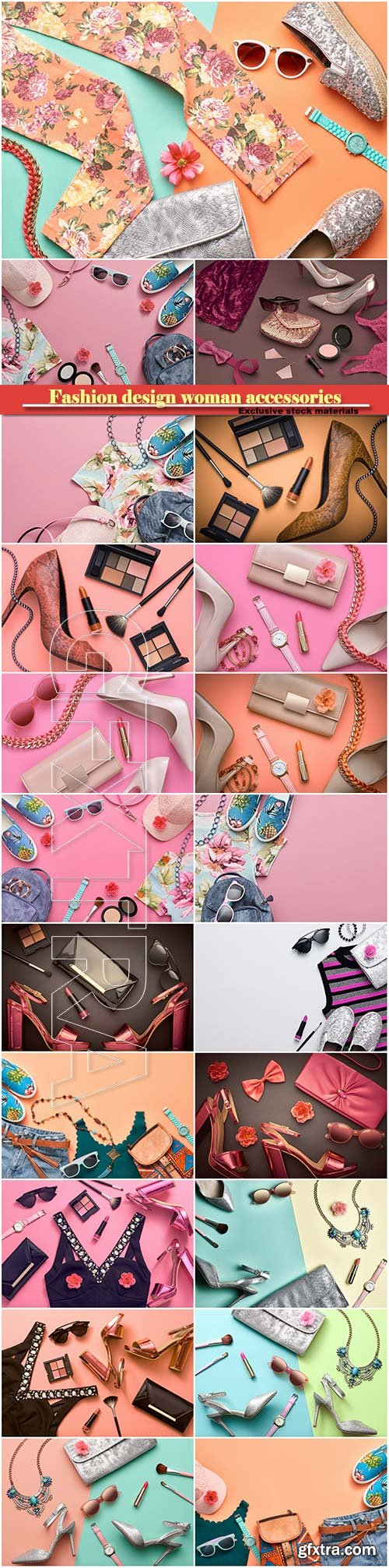 Fashion design woman accessories set