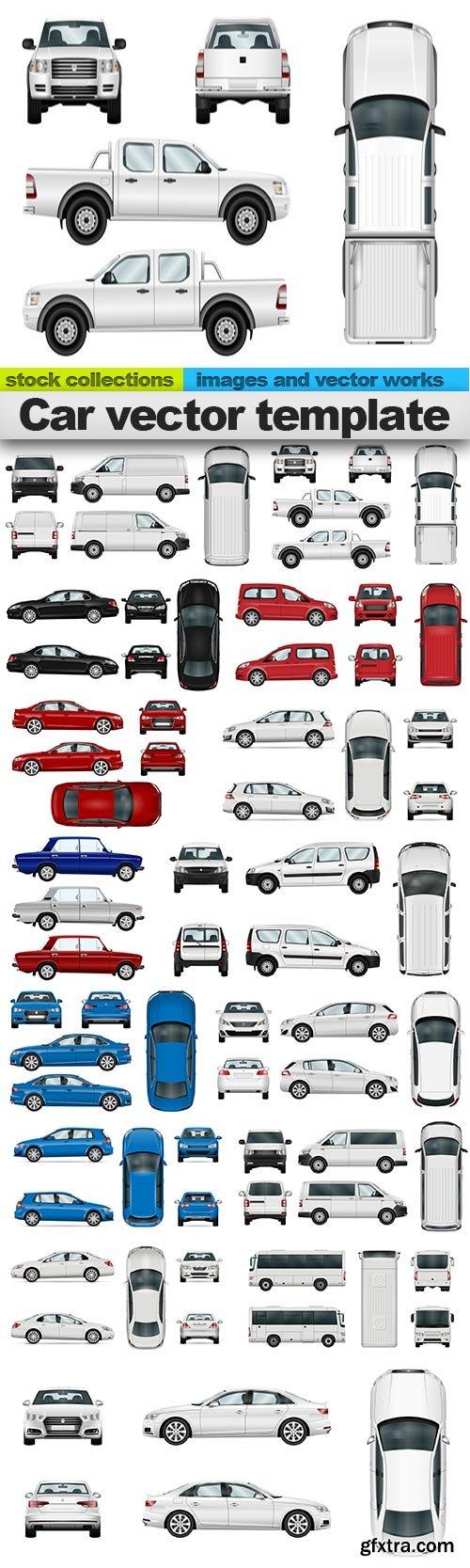 Car vector template, 15 x EPS