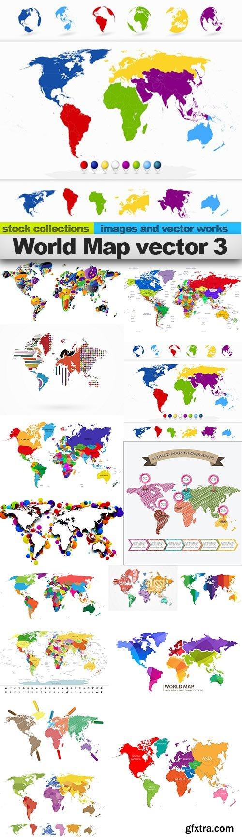 World Map vector 3, 15 x EPS