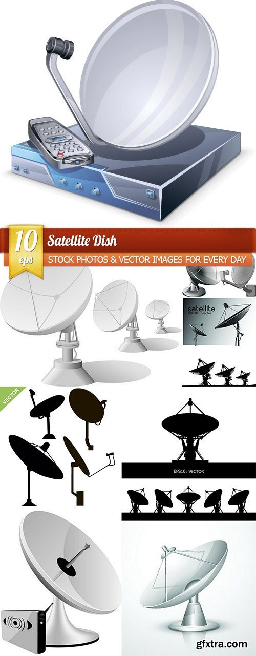 Satellite Dish, 10 x EPS