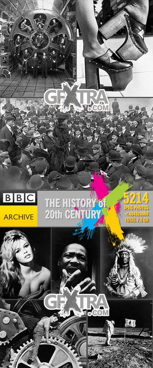 BBC Archive - The History of 20th Century, 5214xJPG, 7.5GB MUST HAVE!